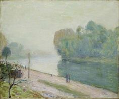 Alfred Sisley | A Bend in the River Loing, 1896 | Oil on canvas | The Ashmolean Museum of Art