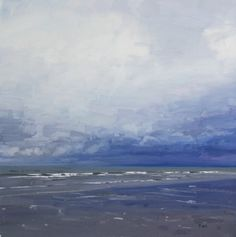Rain Clouds Gathering at Ayr contemporary Scottish Paintings. View all John BELL art and Scottish artwork at Red Rag art gallery. Landscape Art, Landscape Paintings, Landscapes, Beach Paintings, Bell Art, Seascape Art, Sky Painting, Rain Clouds, Beach Scenes
