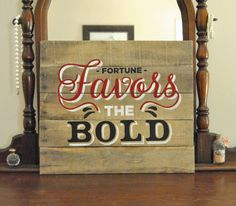 Fortune Favors the Bold Hand painted on by theheartsandcrafts, $60.00 #texastech #kingsbury #ttu