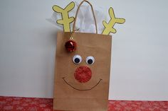 Cute gift bag for the kids to make, fill with goodies, and give to the neighbours.