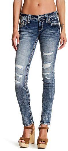 Rock Revival Distressed Skinny Jeans