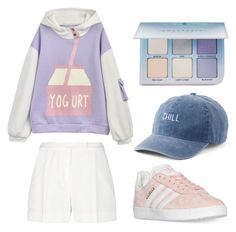 """""""eved"""" by gilazyrl on Polyvore featuring мода, Elie Saab, adidas, SO и Anastasia Beverly Hills"""