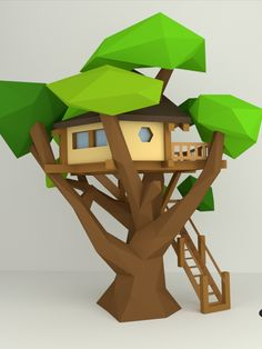 Make your own TreeHouse with our PDF pattern. Do you have a dream to build tree house? Now is the chance to make dreams come true. DIMENSIONS OF THE FINISHED MODEL ●Height: 35,8 cm/ 14,1 in ●Width: 33,0 cm/ 13,0 in ●Depth: 33,2 cm/ 13,1 in ►38-page PDF template A4 (Letter) ►19-page PDF template A3 (Tabloid) ►PDF document(44-page) illustrated step-by-step instruction #lowpoly #papercraft #treehouse #architecture #homedecor #kidsroomdecor #3dorigami #diy #paper #3dpapersculpture #etsy Origami 3d, Useful Origami, Origami Easy, Origami Flowers, 3d Paper Crafts, Diy And Crafts, Diy Paper, Paper Toys, Low Poly