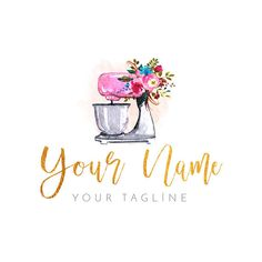 Hello! If you to give a unique welcoming feeling to your shop or brand you can choose a premade logo from my shop for very affordable prices. Unlike most of other shops I offer free service of adding your company name and tagline (if you have it). I saw that some shops require Bakery Business Cards, Cake Business, Business Logo, Logo Floral, Floral Cake, Logo Doce, Bakery Names, Pastry Logo, Cake Branding