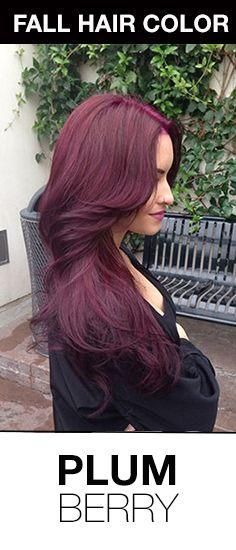Beautiful fall hair color idea for brunettes! Plumberry hair color is a very violet take on auburn hair color. #fallhaircolor