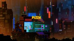 Tagged with gaming, gif, pixel art; I'll just leave some pixel art GIFs here. Pixel Art Wallpaper, Neon Wallpaper, Cityscape Wallpaper, Cityscape Art, 1080p Wallpaper, Desktop Wallpapers, 8 Bits, Vaporwave, Blade Runner