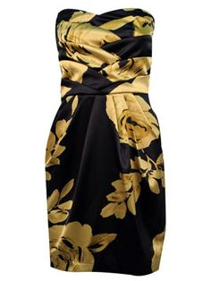 Floral Sateen Tube Dress  @ dots.com