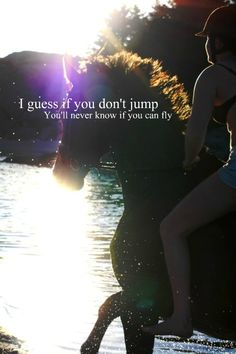I'm pretty sure if you jumped off a bridge, you wouldn't be flying!
