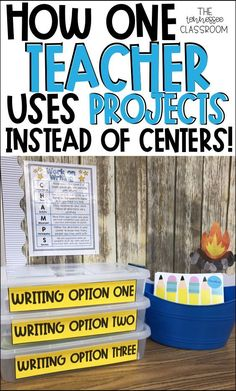 Creative writing projects for 2nd and 3rd grade students. Writing center organization that only needs to be changed out once every month or two. Organization for long-term projects and centers.