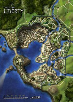 Coastal Town map