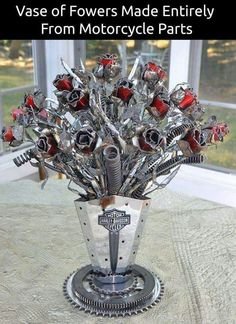 Made with motorcycle parts