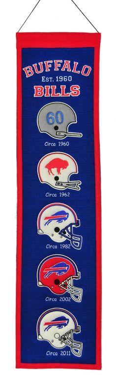"Buffalo Bills 8""x32"" Wool Heritage Banner"