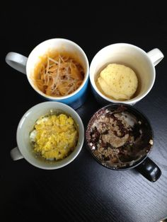 Mug Meals: 10 minutes, 5 ingredients, 4 recipes to try NOW! #MicrowaveMeal #DormRoomDining