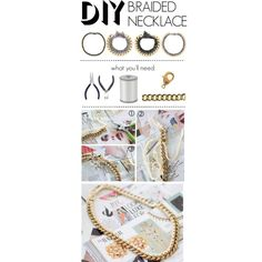 """I am going to have to try this immediately! """"Do It Yourself: Braided Necklace"""" by polyvore-editorial on Polyvore"""