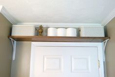 Install a Shelf Above The Door