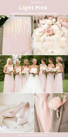 Light pink bridesmaid dresses in 500 custom-made styles long and short affordable under 100 made to order all sizes and 150 colors swatches avail. fast shipping and easy return. Light Pink Bridesmaid Dresses, Gold Bridesmaids, Pink Wedding Dresses, Wedding Gowns, Bridesmaid Outfit, Bridesmaid Color, Pink Brides Maid Dresses, Light Pink Wedding Dress, Bridesmaid Gowns