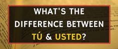 Spanish Vocabulary: When to Use Usted vs. Tú http://takelessons.com/blog/usted-vs-tu-z03?utm_source=Social&utm_medium=Blog&utm_campaign=Pinterest