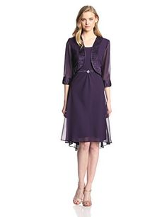 Dana Kay Women's Waist Detail Jacket Dress, Eggplant, 8 Dana Kay #Dress http://amzn.com/B00KGSMAWW/?tag=apparels16-20
