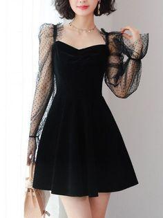 Cute Black Dress, Beautiful Black Dresses, Sweet Dress, Elegant Dresses, Pretty Dresses, Awesome Dresses, Simple Dresses, Simple Black Dress, Little Black Dress Outfit
