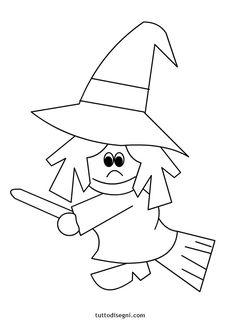Disegni Halloween da colorare - Streghetta - TuttoDisegni.com