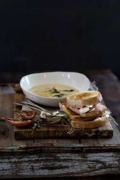 Creamy Onion and Burnt Sage Soup with Camembert Croque Monsieur - Crush 52 Sage Butter, Burning Sage, Souped Up, Hot Soup, Food Pictures, Food Pics, Winter Food, Soup Recipes, Favorite Recipes