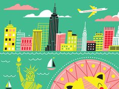 NY skyline   # Pinterest++ for iPad #