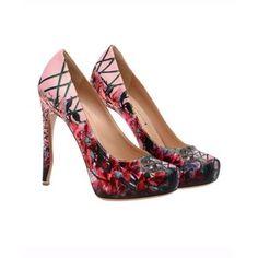Nicholas Kirkwood Harmony painted silk-satin heels