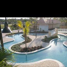 Lazy River Pool in Backyard Backyard Lazy River, Lazy River Pool, Backyard Paradise, Swimming Pool House, Swiming Pool, Swimming Pool Designs, Outdoor Pool, Indoor Outdoor, Indoor Pools