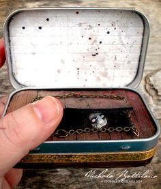 The Evil Dead altered Altoid tin interior - Nichola Battilana