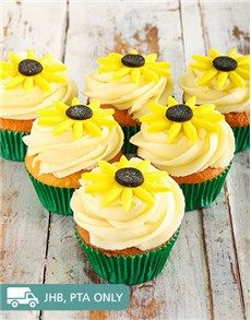 Cakes and Cupcakes - Cupcakes: Sunflower Cupcakes!