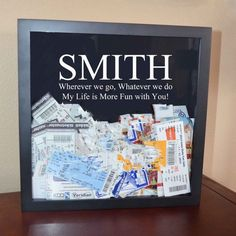 Event Stub Holder, Concert Ticket Holder, Memento Box, Travel items. Unique, Personalized remember the moments