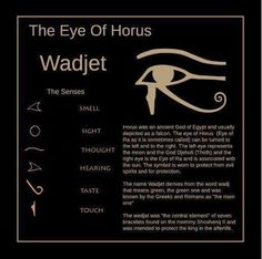 The Eye of Horus Symbol of Protection, Wisdom and Health. Also an Egyptian Symbol Designed to resemble the eye of a falcon, this symbol is also called the Eye of Ra. Horus, also known as the sun god Ra, was a falcon-headed sky god from ancient Egypt. Egyptian Mythology, Egyptian Symbols, Ancient Symbols, Ancient History, Ancient Egyptian Art, Egyptian Eye Symbol, Egyptian Eye Tattoos, Egyptian Goddess, Tatoo Art