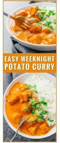 This easy vegetarian potato curry has a delicious orange sauce similar to an Indian tikka masala sauce. vegetarian chicken tikka masala recipe, dinner, fast, easy, recipe, dum aloo, vegan, indian, meals, sweet, chickpea, lentil, soup, thai, coconut via @savory_tooth #indianvegetarianrecipes