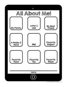 All About Me FREEBIE for Back to School!