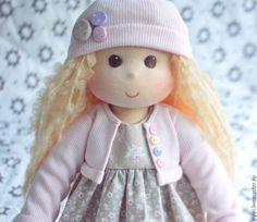 Купить Весенняя девочка - бледно-розовый, вальдорфская кукла, вальдорфская кукла купить