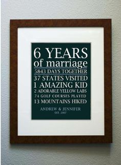 Love it! This is a great way to make memories of your years married together for your anniversary!