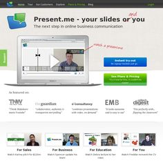 Present.me is a really easy way to record and share your presentations using your webcam...