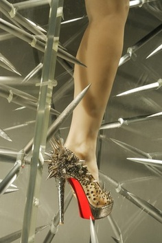 Christian Louboutin in Barneys Window