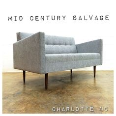 """Custom Made #midcenturymodern style """"Judy"""" sofa - now available at #midcenturysalvage $1800 - Custom orders now being accepted! (Price may vary depending on size) MidCenturySalvage.com (704)635-8744 #midcenturyfurniture #charlottenc #charlotte"""