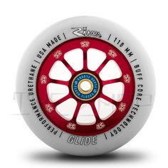River Wheels / SR Collab Wheel-Glide 110mm (Light Grey On Red)