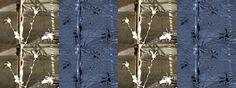 """'Bänderbild """"Stoffdesign Sternmagnolien am Bau""""' von Rudolf Büttner bei artflakes.com als Poster oder Kunstdruck $18.71"""