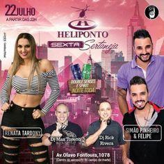 Heliponto Bar | Sexta Sertaneja com Double Senses e Spirit pra Elas a noite toda Coloque seu nome na lista pelo link: http://www.baladassp.com.br/balada-sp-evento/Heliponto-Bar/371 Whats: 951674133