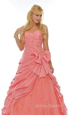prom dresses I wish this was in like a pretty purple or blue. The pink is too boring