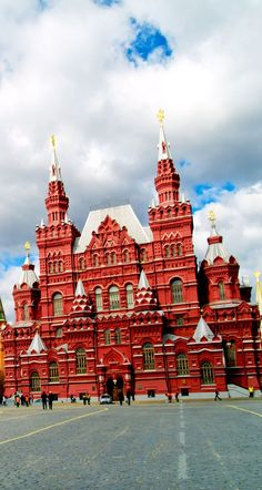 Kremlin and the historic museum at the Red Square in Moscow, Russia.