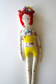 Pretty blog post about handmade dolls