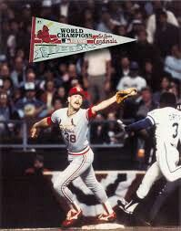 Second out. Nineth inning 1985 World Series.  Cardinals Royals.  Don Denkinger blown call.  Todd Worrell and Jorge Orta.