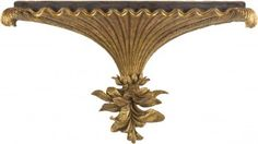 """Gold Pagoda Wall Bracket. Gold leafed wood. 31.5""""w x 18.5""""h x 12""""d.  List price: $837.00. Our price: $687.00. Item #:  EM 571-76-13034 Shelf Brackets Vintage, Wall Brackets, Candels, Wall Hanger, Wood Carving, Drapery, Altar, Wall Sconces, Wood Projects"""