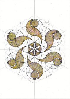 Geometric Drawing, Mandala Drawing, Mandala Art, Geometric Shapes, Celtic, Sacred Geometry Art, Circle Geometry, Geometry Pattern, Math Art