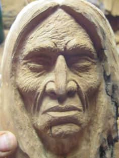 How to Carve Using a Picture study of Carving a Native American Indian