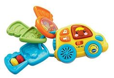 Start your learning engines with the Beep & Go Baby Keys from VTech. Colorful textures, buttons and playful sounds stimulate baby's senses and get them cruising through playtime fun. Shake the rattle, toot the horn and sing with me.